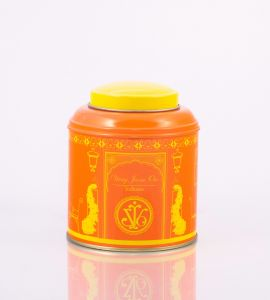 Tea Canister (Double Lid) Orange