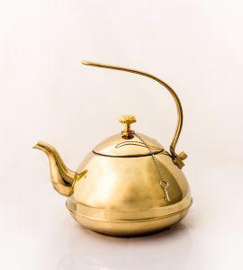 Golden stainless teapot
